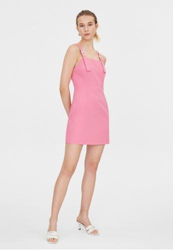 Pomelo pink Buckle Strap Sleeveless Dress - Pink B0F22AAECBCB73GS_1