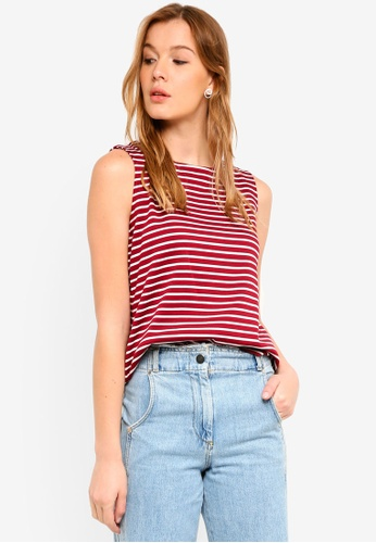 Banana Republic red Stripe Shell Top 73813AAFD53380GS_1