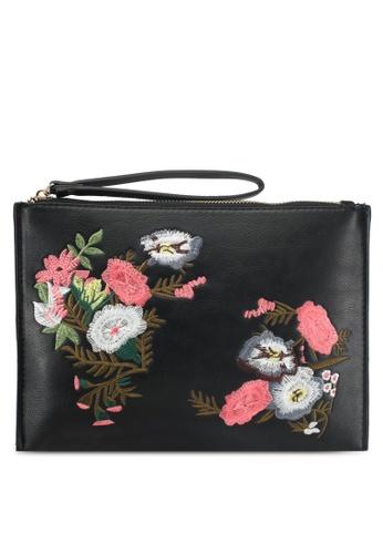 Mango black Floral Embroidery Clutch E58B5AC56CDD0AGS_1
