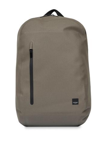 "knomo brown Harpsden 14"" Laptop Backpack (Khaki) 373BEACC9C9BF9GS_1"