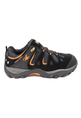 midzone black Suede Leather Steel Toe Safety Shoes MI949SH11WJOMY_1