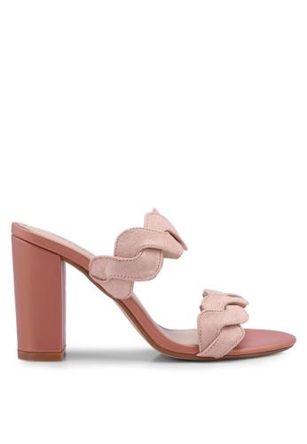 Velvet 橘色 麂皮繞帶高跟鞋 0D0A3SHBA9EC19GS_1