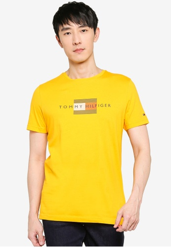 Tommy Hilfiger yellow Lines Hilfiger Tee A97C4AAE8AB908GS_1