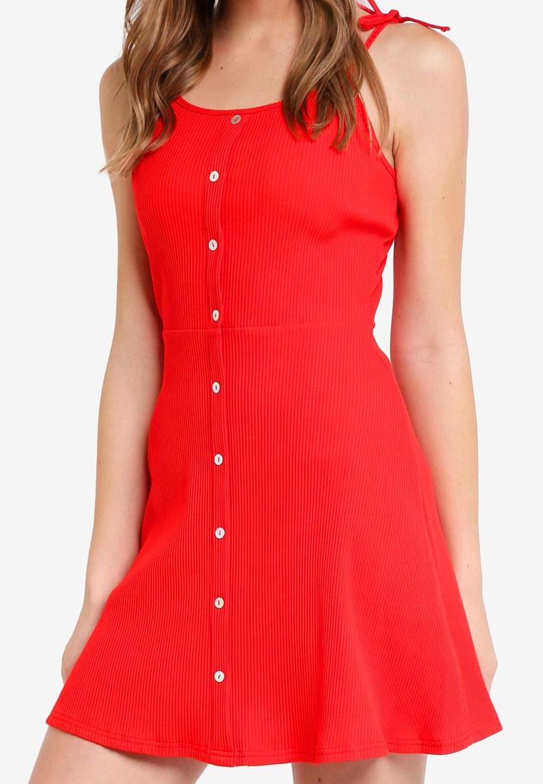 Knit Cami Dress Knit Red Dress Red Knit Dress Cami ZALORA Cami Cami Dress Knit ZALORA ZALORA Red qnfAdfW
