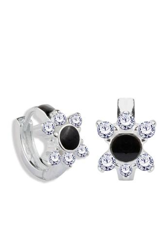 SC Tom Silver silver Flower Clip Stone Earrings - TESL008 SC872AC65NPMPH_1