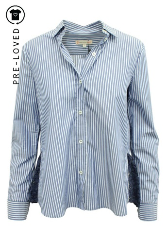 Paul & Joe Sister blue Pre-Loved paul & joe sister Striped Shirt With Lace Trims AEF17AAA2F8516GS_1