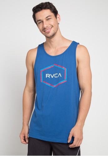 RVCA blue Hexest Tank 4B648AAC9C9067GS_1