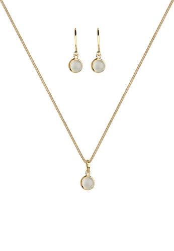 ELLI GERMANY gold Elli Germany Jewelry Set Pendants Moonstone 925 Silver Gold Plated C5946AC5C148C5GS_1