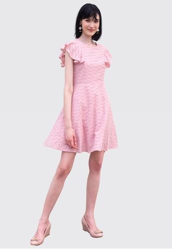 L'zzie pink LZZIE NEFERTARI DRESS - PINK 5938BAAEB9D99DGS_1