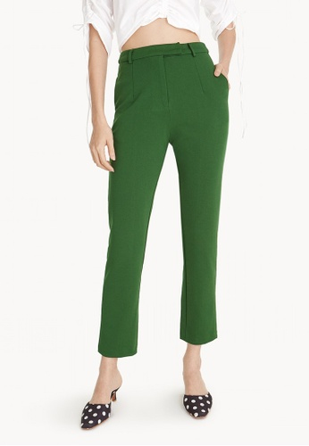 Pomelo green Tailored Back Slit Pants 3B421AAC8D3F82GS_1