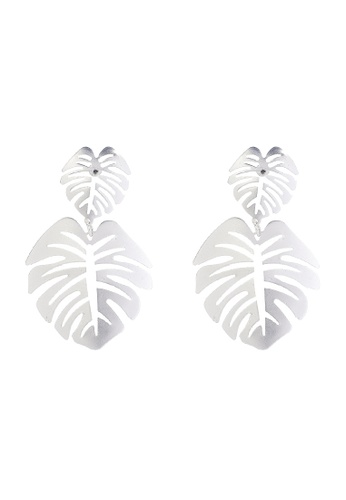 joystyx silver Tropical Drop Down Earrings BCA5DACC016439GS_1