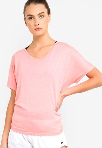 DKNY pink Icy Wash Tie Back Tee DE4D2AAD0E8CB7GS_1