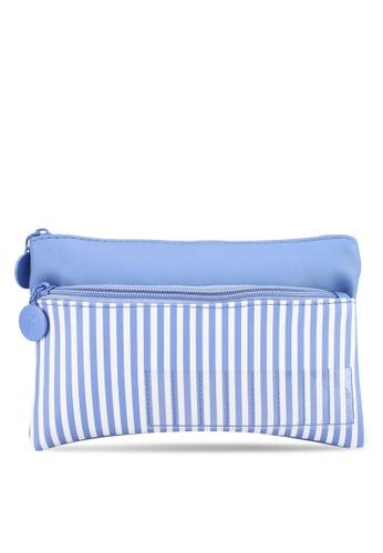 Rubi blue Personalised Dual Zip Comestic Case B726DACFD29E92GS_1