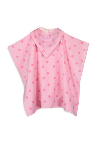 LC Waikiki pink Girl Printed Velvet Poncho Towel B960DKCBFD6BFBGS_1