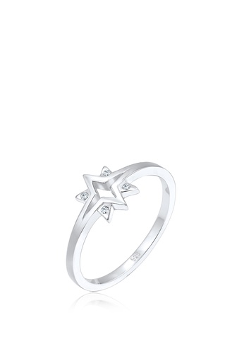ELLI GERMANY silver Ring Stars Starburst Crystals 99317AC6E8AA63GS_1