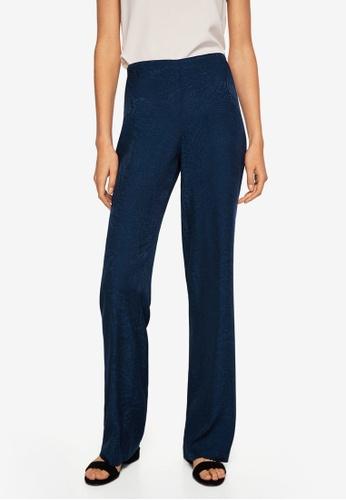 Mango blue Jacquard Trousers 88BF0AA34618BBGS_1