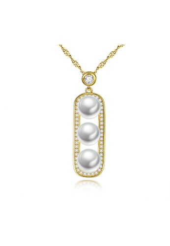SUNRAIS gold High-grade colorful stone gold fashion necklace F7ADCAC85C8BDBGS_1