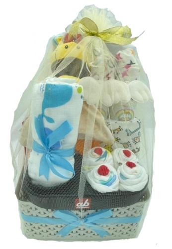 Akarana Baby white and multi Baby Hamper Gift Set - My Baby Essential Gift / Newborn Baby 36B05KC047243BGS_1