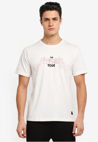 Flesh IMP white Dave Printed Tour T-Shirt FL064AA0SJNIMY_1