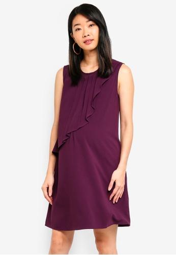 Spring Maternity purple Maternity Cory Pleated Dress 97E3BAAC8B87EBGS_1