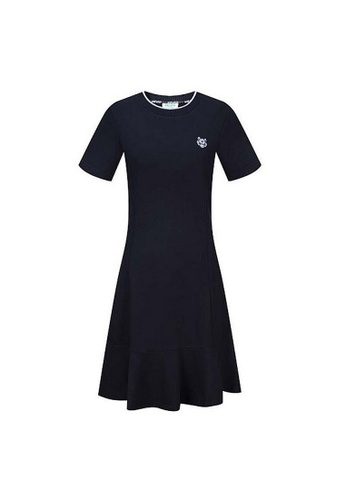 Kenzo black Kenzo Embroidery Tiger Crew Neck Dress in Black 38EB1AA274D2ADGS_1