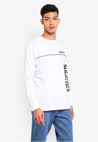 Factorie 白色 Long Sleeve Graphic Tee 4435AAA5AFEB3CGS_1
