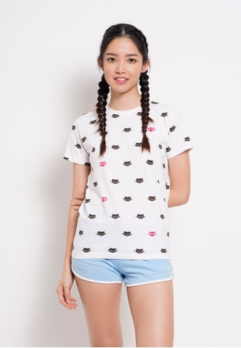 Fave white Short Sleeve Graphic Tee FF1EEAA010095AGS_1