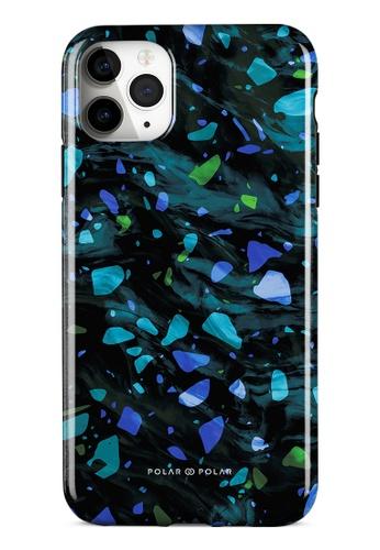 Polar Polar blue Ocean Terrazzo Gem Dual-Layer Tough Case Glossy For iPhone 11 Pro Max E8301AC8269277GS_1