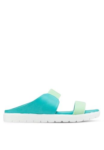 Le Sandee green Casual Sandals LE906SH48AZRMY_1