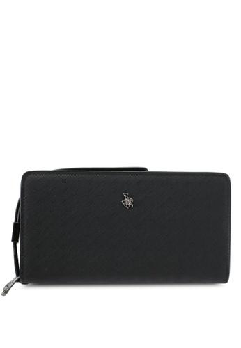 Swiss Polo black Swiss Polo Double Zipper Long Wallet SW912AC0SJYFMY_1