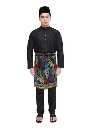 Amar Amran black Baju Melayu Moden E676BAA8A1AB73GS_1