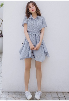 186e21d58277 12% OFF Tokichoi Straight Striped Dress With Belt HK$ 429.00 NOW HK$ 377.90  Sizes S M L