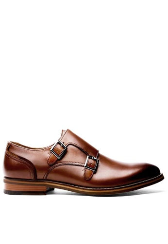 Twenty Eight Shoes brown Leather Monk Strap Shoes MC8135 36305SHB247DB3GS_1