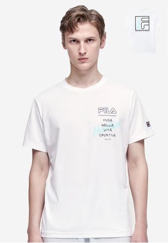 FILA white Athletics Contrast FILA HERITAGE Logo T-shirt B6700AA3A67A5AGS_1