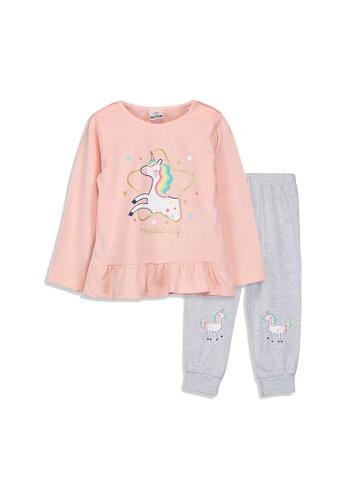 LC Waikiki pink Baby Girl's Printed Pyjamas Set 76768KA7FDC7FDGS_1
