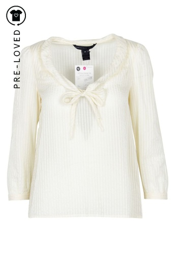 Marc By Marc Jacobs beige Pre-Loved marc by marc jacobs Cream Striped Blouse C1026AAD423209GS_1