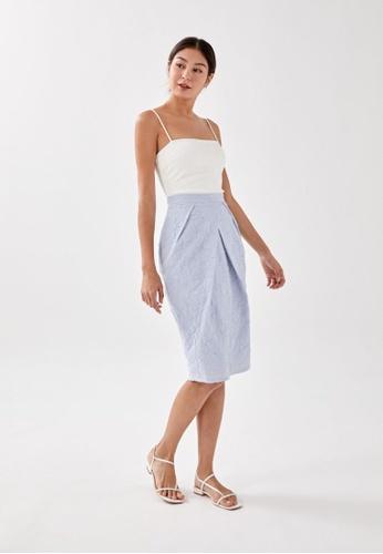 Love, Bonito blue Kait Textured Midi Skirt 83C50AA0C235D7GS_1