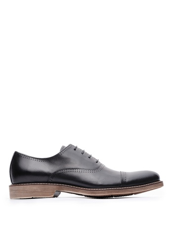 Life8 black Formal Pointy-Toe Leather Shoes-09887-Black 2195DSHD79A3EEGS_1
