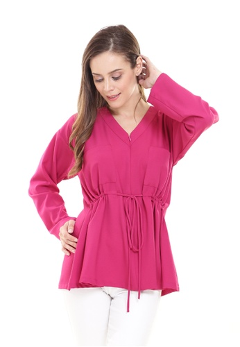 Rina Nichie Basic pink Melly Top in Hot Pink E0347AA5A8857AGS_1