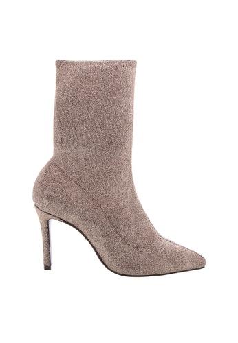 Schutz gold SCHUTZ Sock Ankle Boots - ESTRELA (PLATINA) D9F44SH5E533E9GS_1