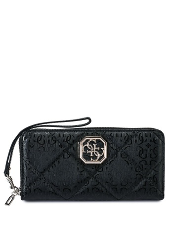 Guess black Dilla Large Zip Around Wallet 10863AC3674052GS_1