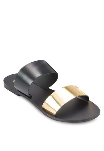 Turbesprit分店uleux 撞色寬帶涼鞋, 女鞋, 鞋