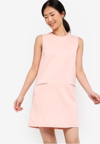 ZALORA BASICS pink Basic Pocket Details Shift Dress 95C81AA2C0312CGS_1