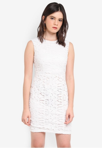 ZALORA white Lace Pencil Dress C0950AA525AE68GS_1