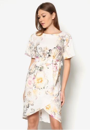 花卉裹式連身裙, esprit 品牌服飾, 洋裝