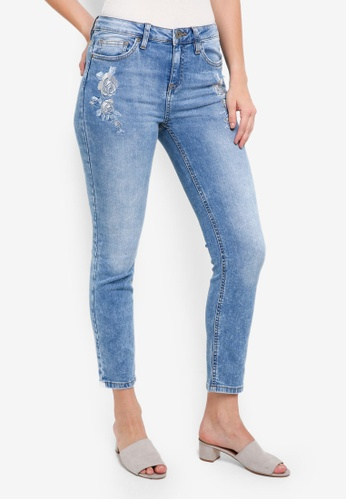 OVS blue Embroidered Jeans 62B35AAC6216F5GS_1