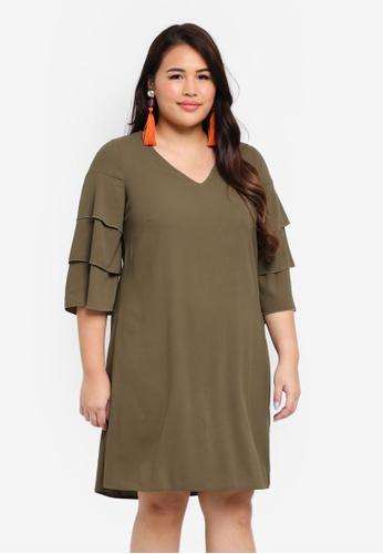 Junarose green Plus Size Robina Dress E52B4AA0D24EC1GS_1