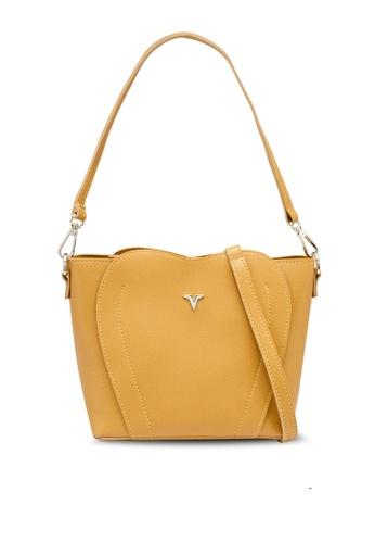 Verchini yellow Elegant Sling Bag 69EDCAC7826170GS_1