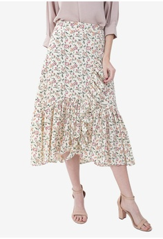 a7cc300a5 Caoros multi Printed Pleated Skirt C1BBBAAD0B95E6GS_1