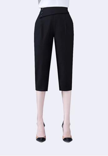 Twenty Eight Shoes black VANSA Cotton Linen High Waist Causal Pants  VCW-P2187 F3125AA99BD930GS_1